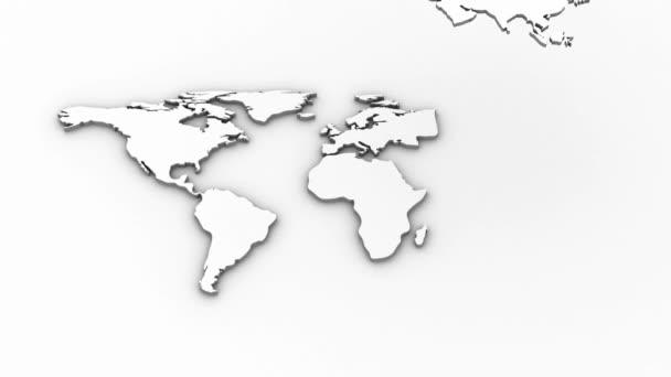 Světová mapa animace