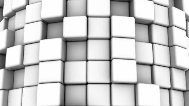 abstraktní pozadí bílých kostek