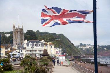 British flag at English seaside town