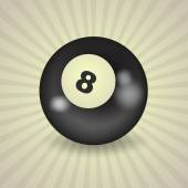 Fotografie American billiard ball number 8