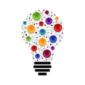 Lampe mit Molekül im Inneren