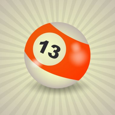 American billiard ball number 13