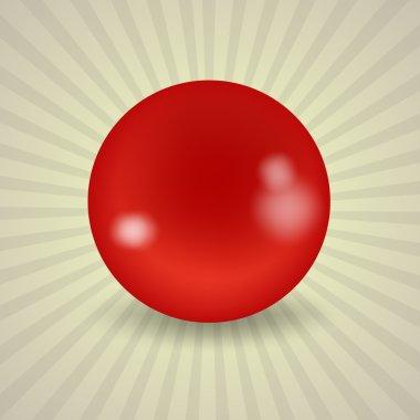American red billiard ball