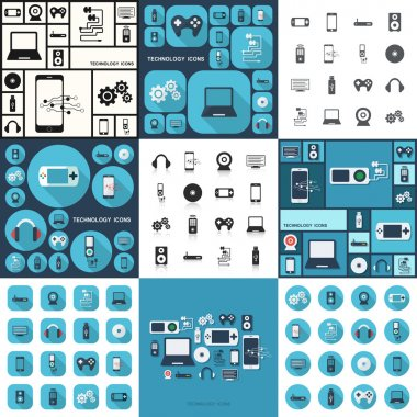 Shadow technology icons