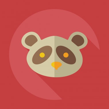 Flat modern design with shadow icons pandas