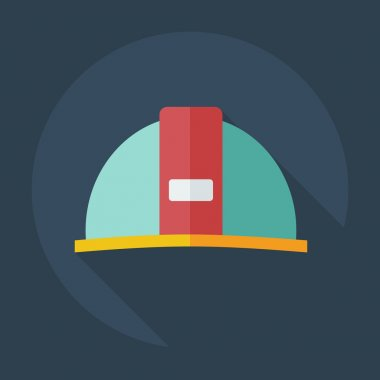 Flat modern design with shadow icons hard hat