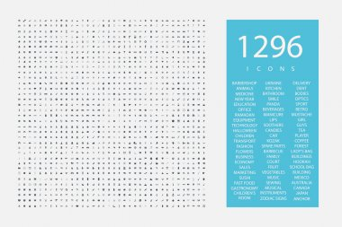 a huge assembly of icons 1296 pieces on  variety of topics