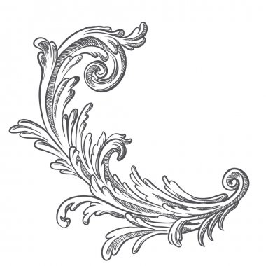 Vintage baroque element
