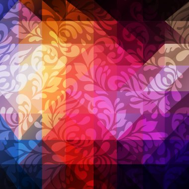 Baroque pattern on triangle background