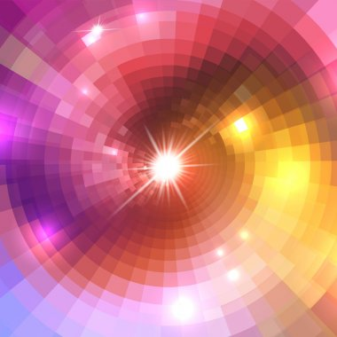 Background with concentric circles
