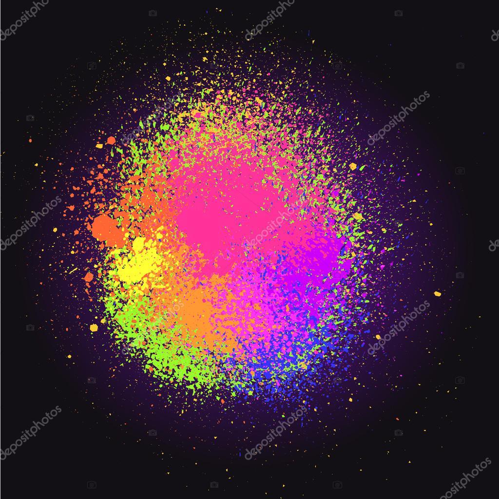 Neon spray stains