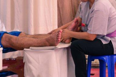 Foot massage, Thai massage spa by physiotherapist.