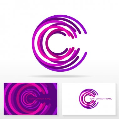 Letter C logo icon design template elements.