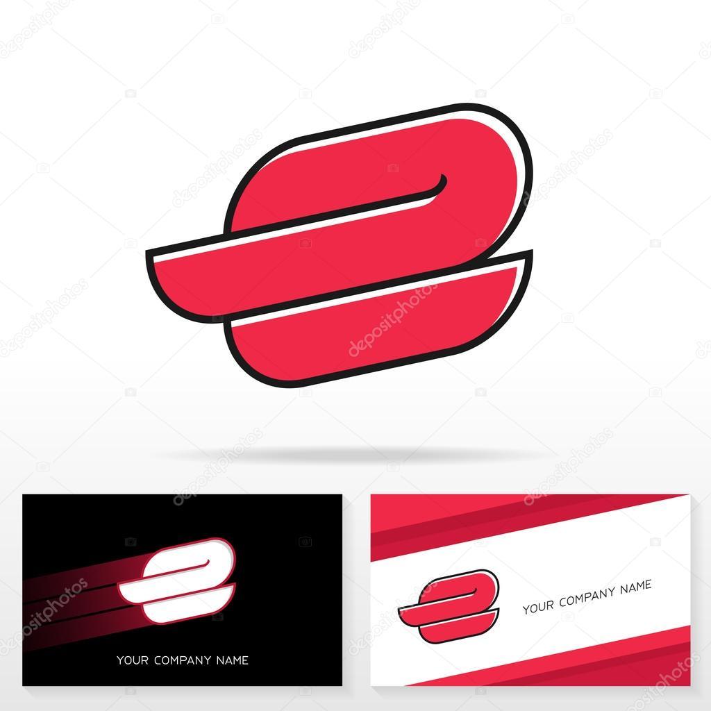 Elementos de plantilla de diseño de icono de letra E insignia ...