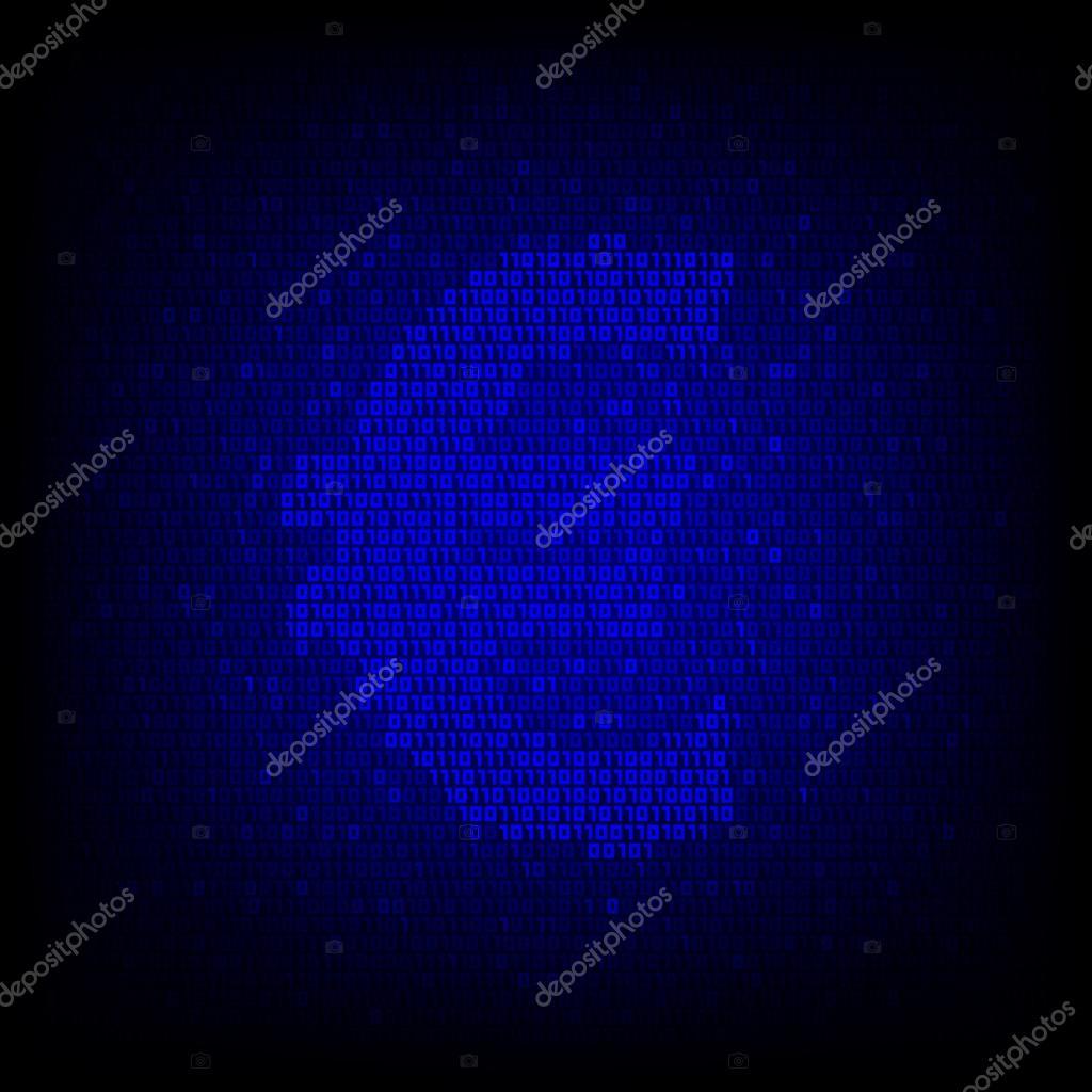 Cyber Geld Konzept Binr Code Euro Symbol Stockvektor