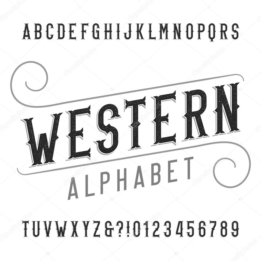 western style font