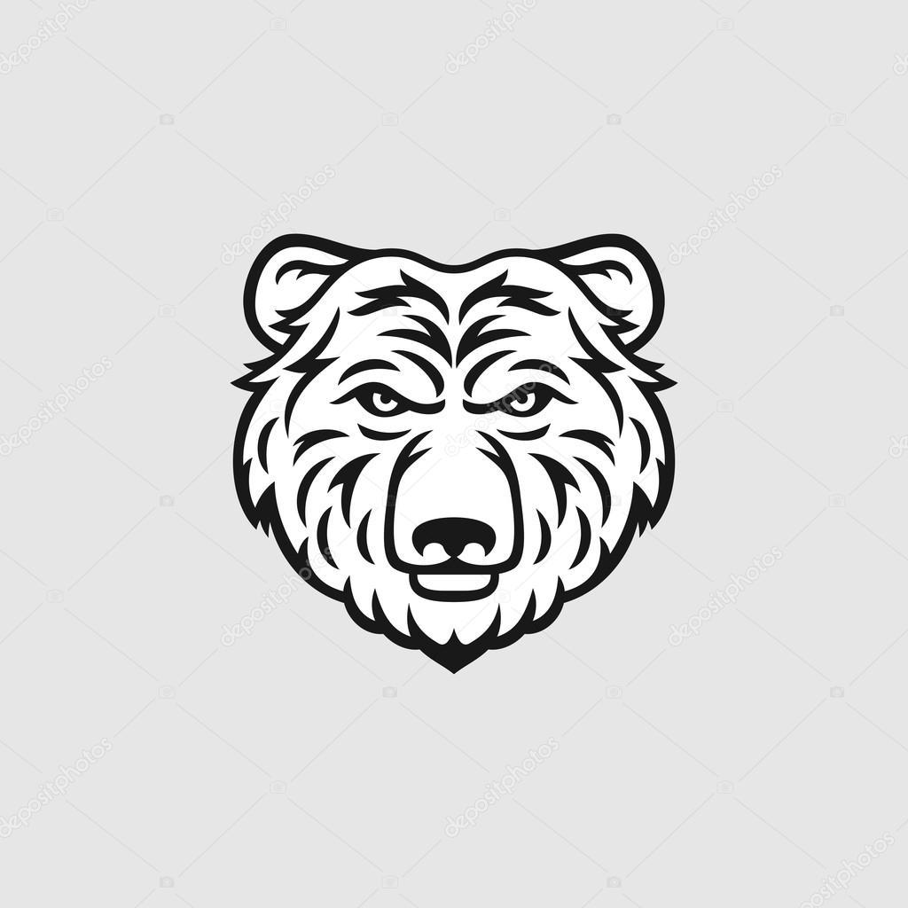 Медведь голова вектор