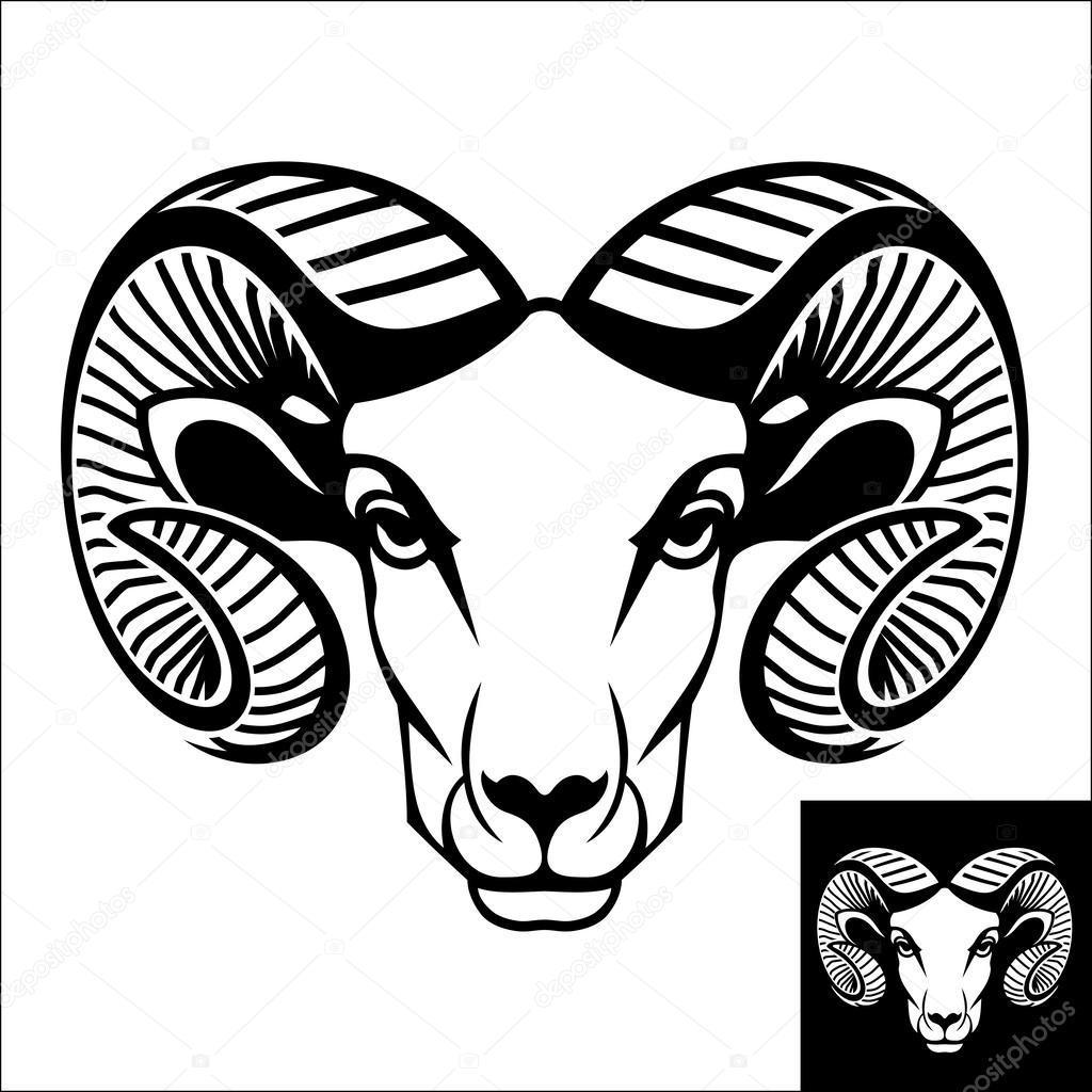 Ram Head Logo Or Icon Stock Vector