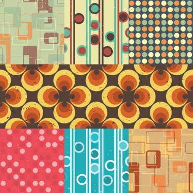 Seamless retro patterns.