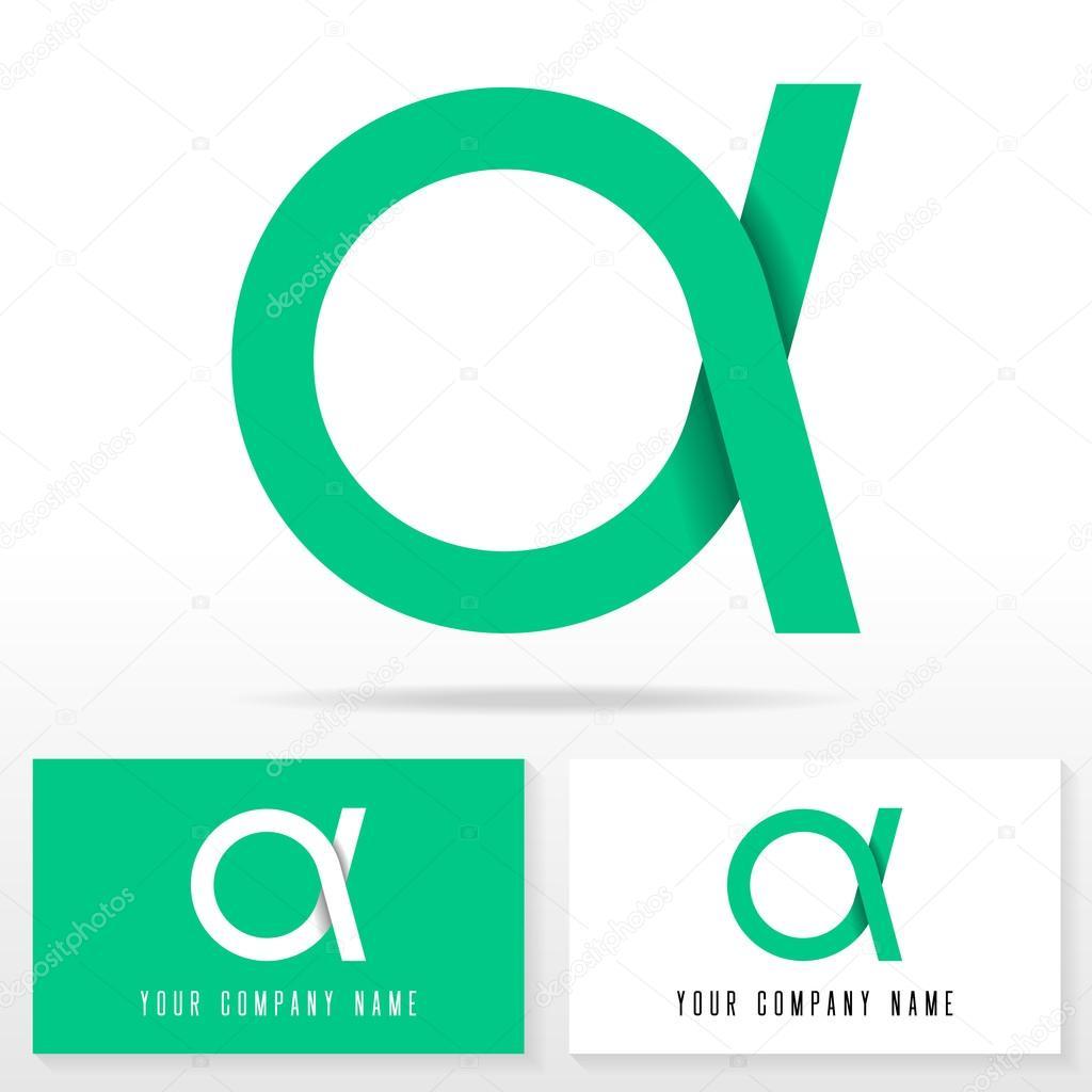 Ícono de logotipo letra A diseñar elementos de plantilla ...