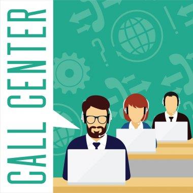 Vector customer service concept. Call center.