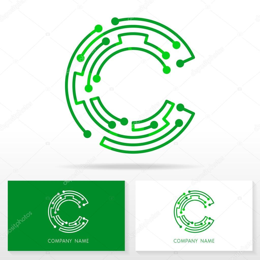 e38bd3067a Elementos de modelo de design de ícone de logotipo letra C - ilustração —  Vetor de