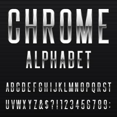 Chrome Alphabet Vector Font