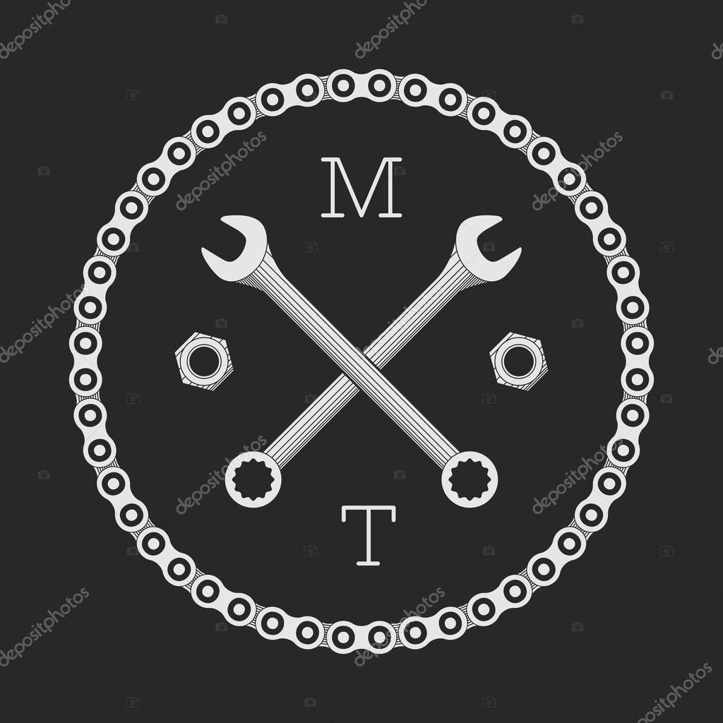 Ar Ou Bicicleta Modelo De Logotipo De Oficina Conceito