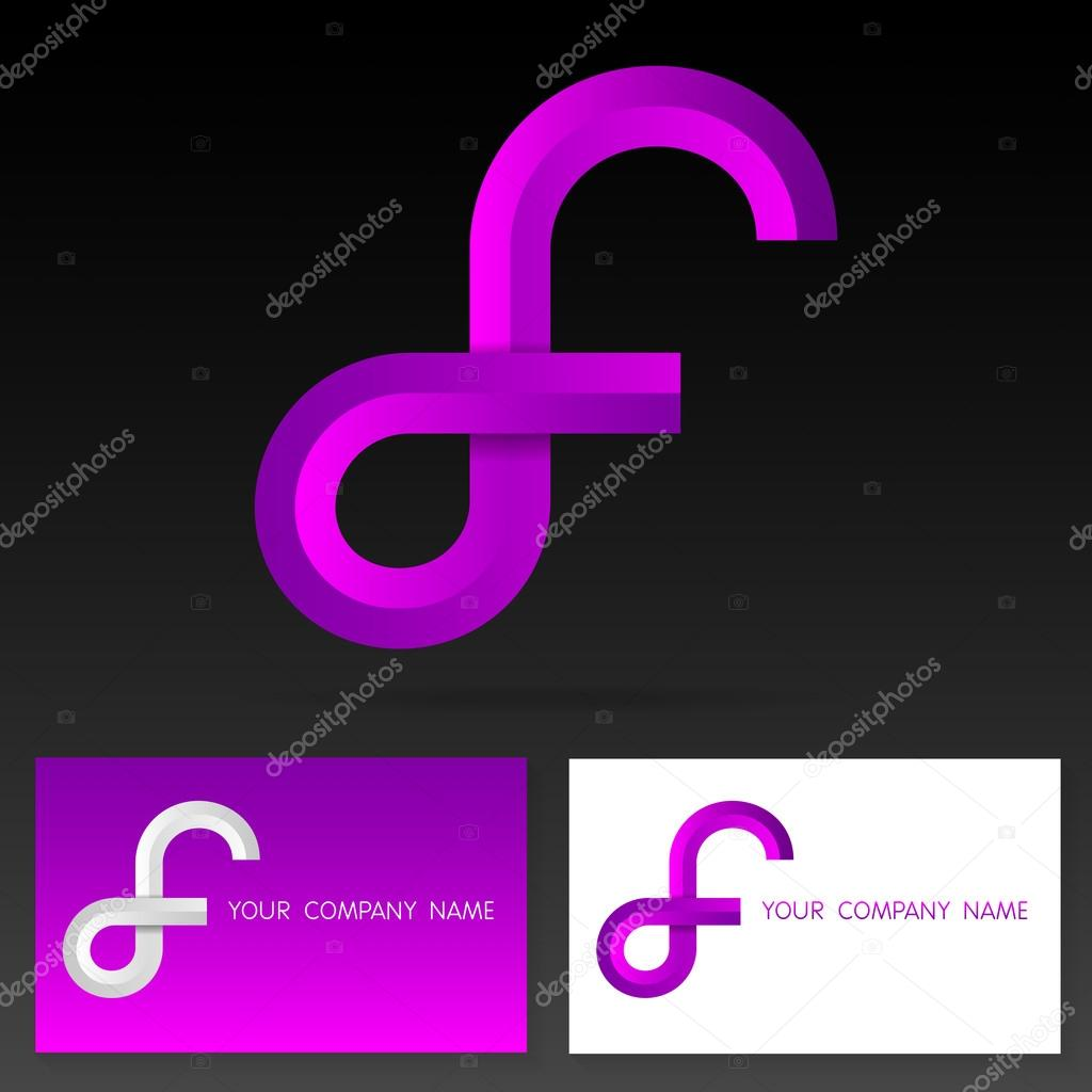 letter f logo icon design template elements illustration stock