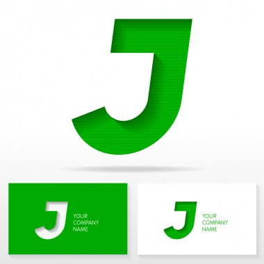 Letter J logo icon design template elements - Illustration.