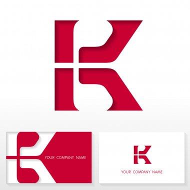 Letter K logo icon design template elements - Illustration.