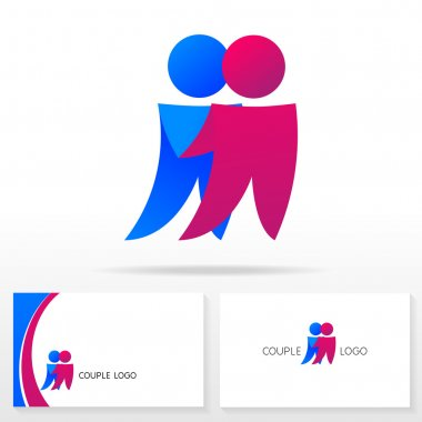 The couple logo icon design template elements - Illustration.