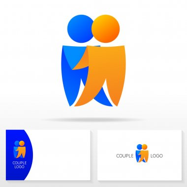 The couple logo icon design template elements - Illustration.