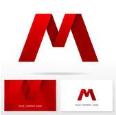 Fotografia Elementi modello di lettera M logo icona disegno - illustrazione