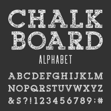 Chalkboard Alphabet Vector Font.