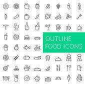 Přehled potravin ikony nastavit pro web a aplikace