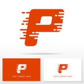 P betű logo ikonra design sablon elemei - illusztráció