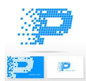 P betű logo ikonra design sablon elemei - illusztráció.