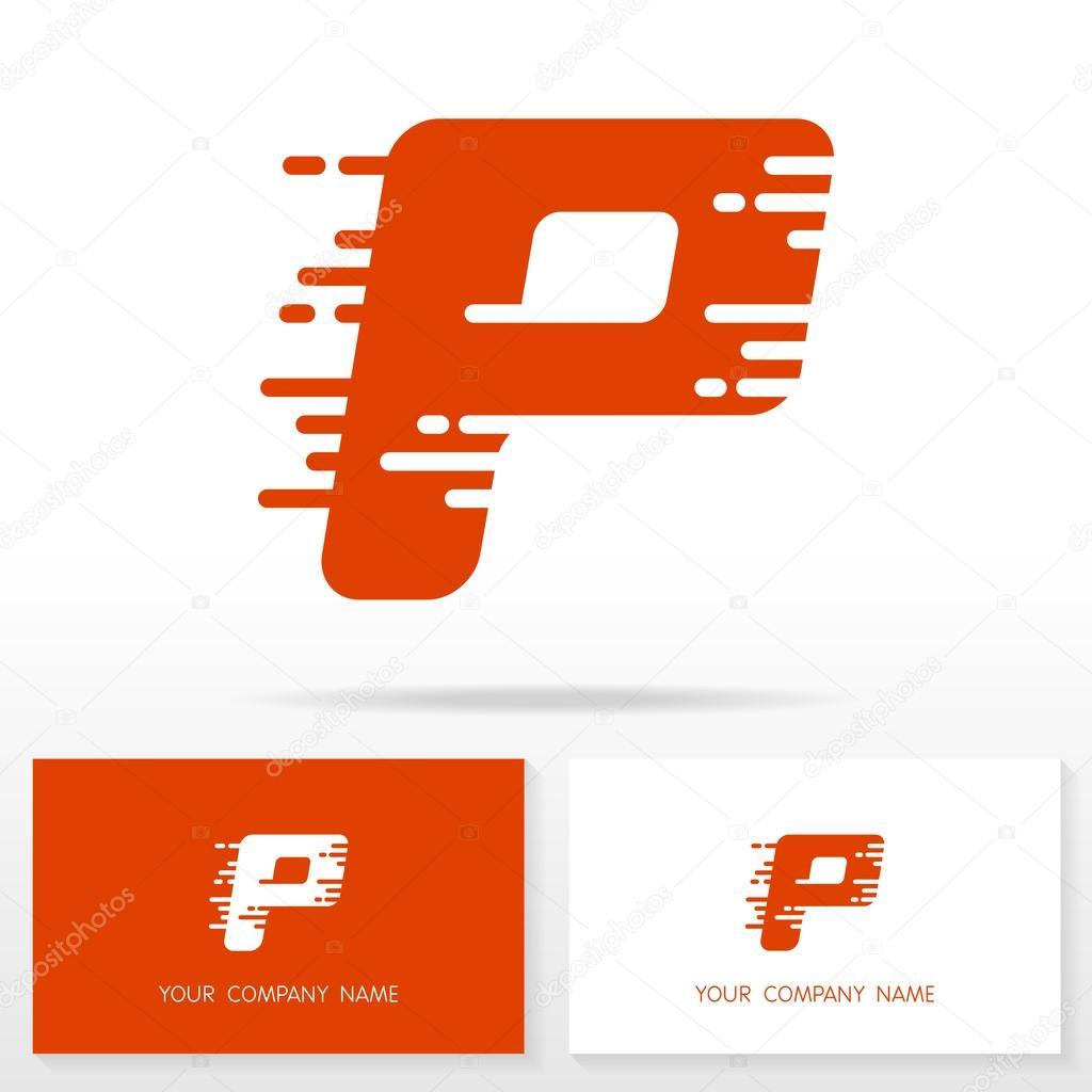 Elementos de plantilla de letra P logo icono diseño - ilustración ...