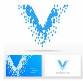 Fotografia elementi di modello lettera v logo icona disegno - illustrazione vettoriale
