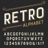 Retro abeceda vektorové písmo