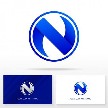 Letter N logo icon design template elements - Illustration.