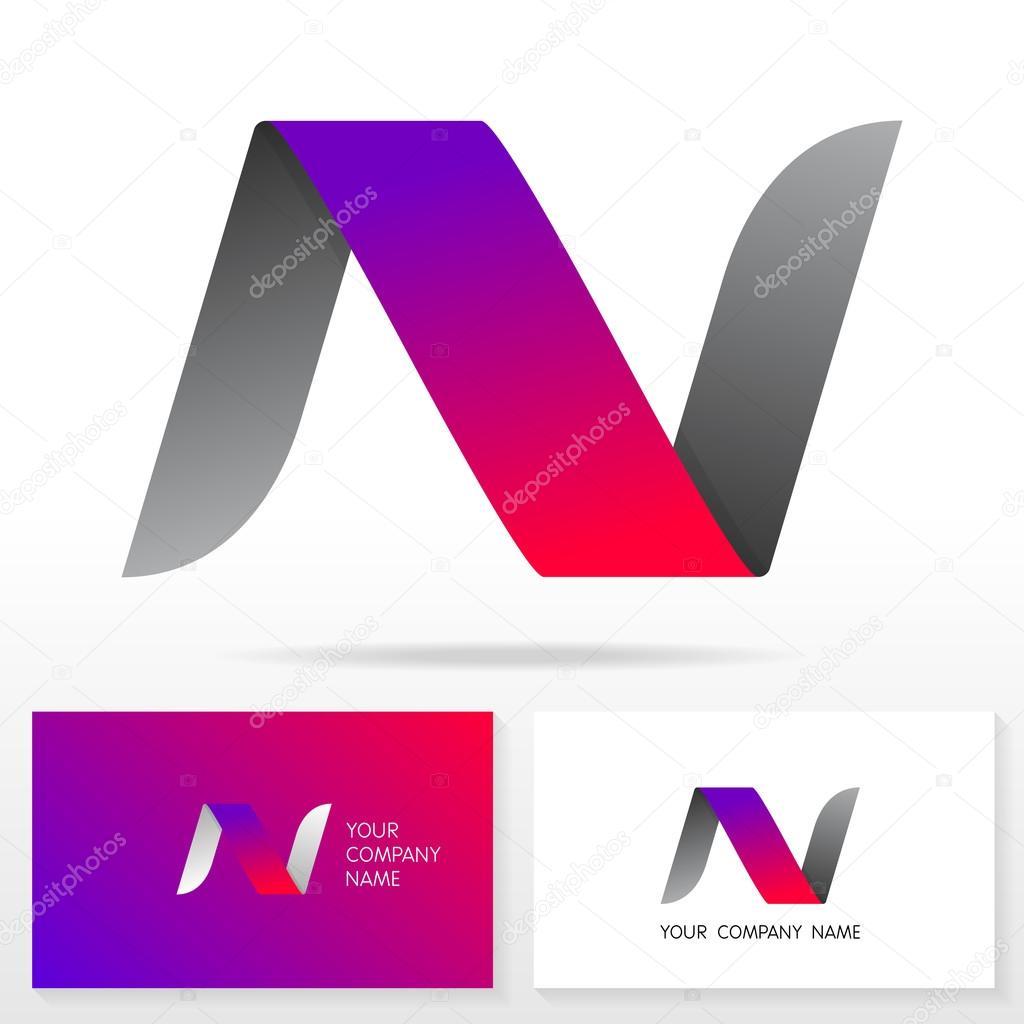 letter n logo icon design template elements illustration stock