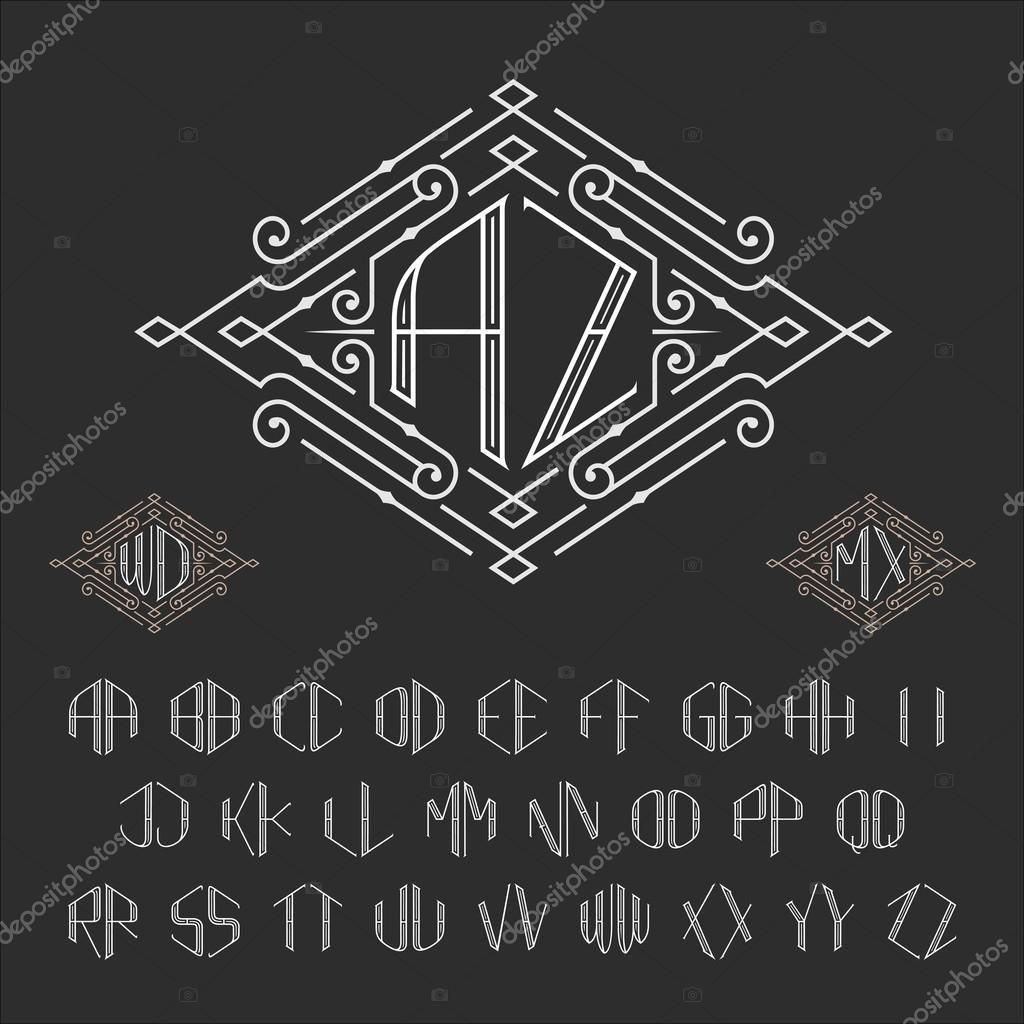 Zwei Buchstaben Monogramm Vorlage — Stockvektor © Epifantsev #88058900