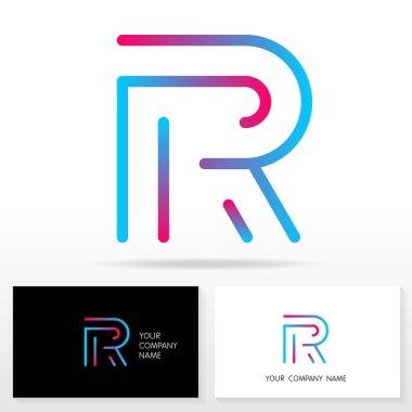 Letter R logo icon design template elements - Illustration.