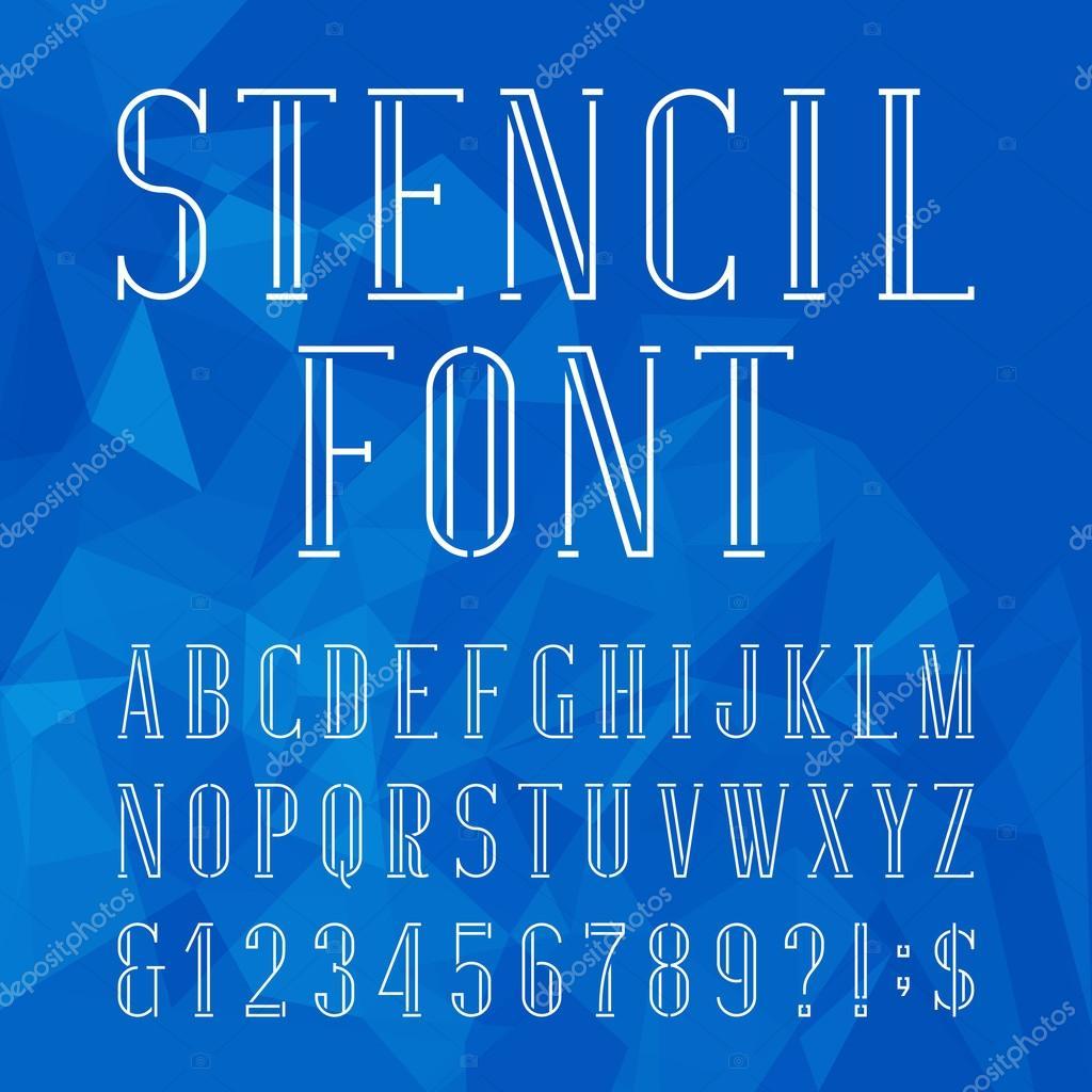 Fuente de vector plantilla alfabeto — Vector de stock © Epifantsev ...