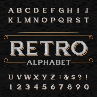 Distressed retro vector typeface.
