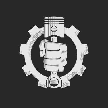 Car or bike repair shop logo template