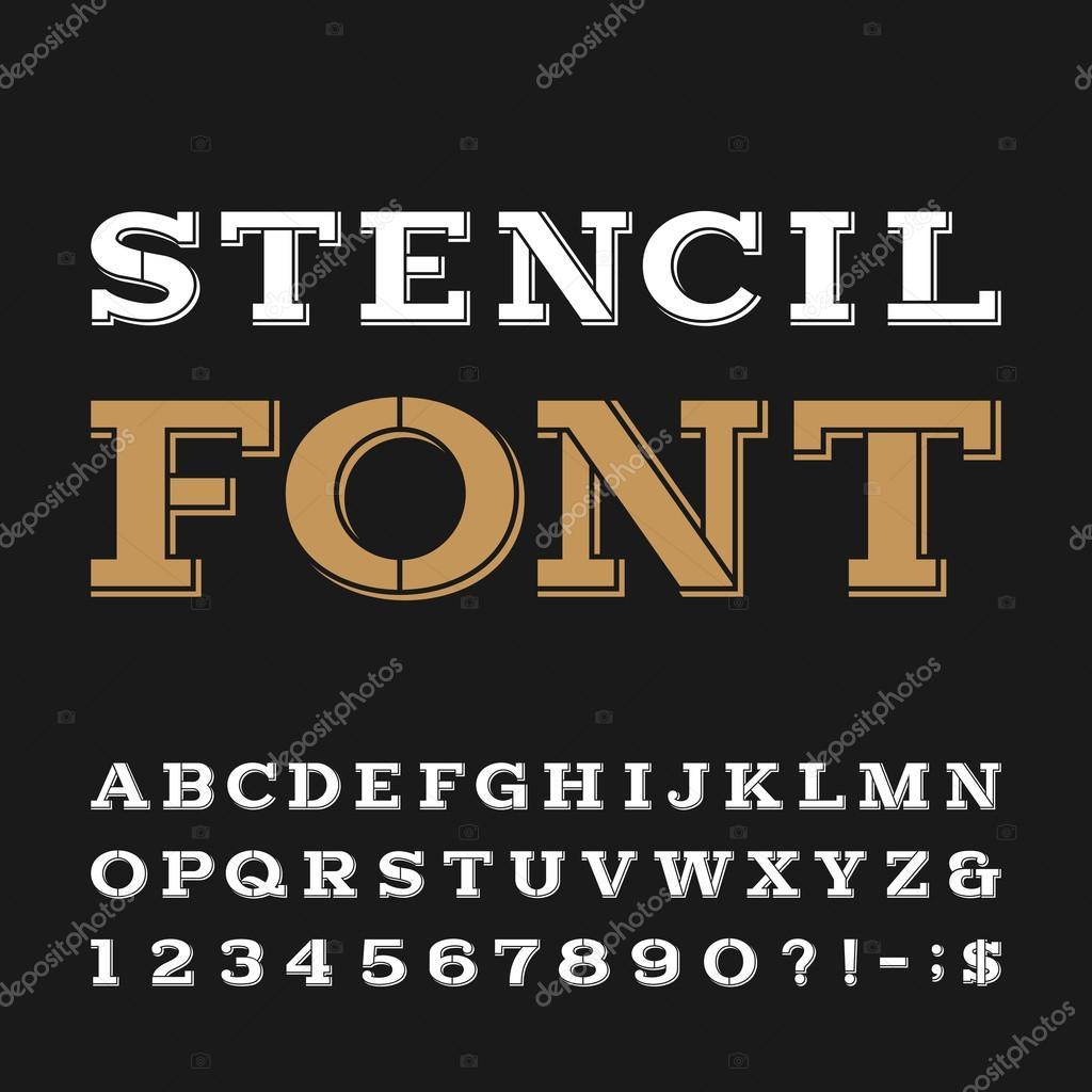 Fuente de vector plantilla alfabeto — Archivo Imágenes Vectoriales ...