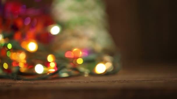 Vánoční pozadí abstraktní. blikající věnec